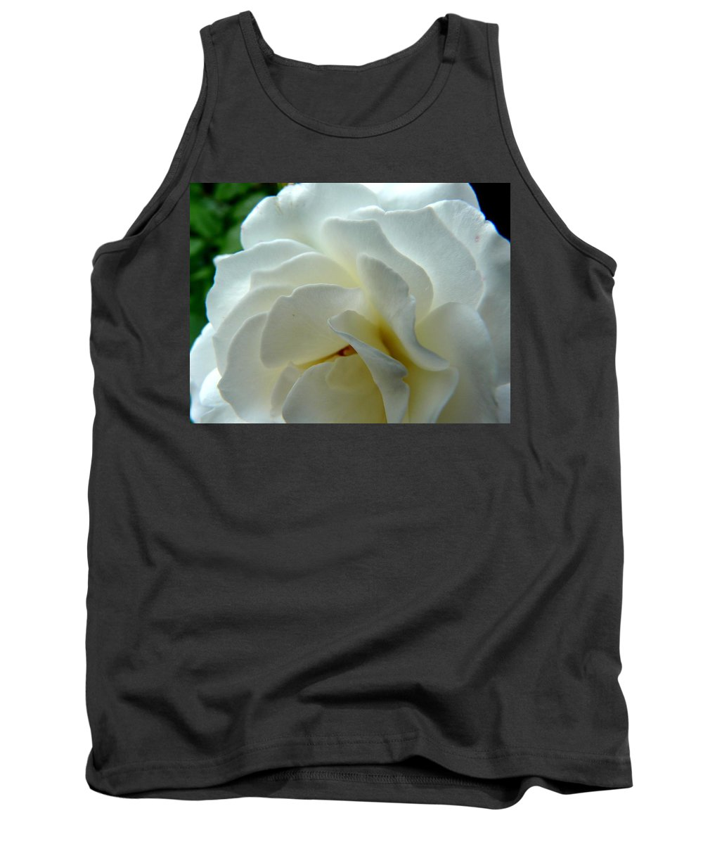 Rose Tank Top featuring the photograph White Petals by Valerie Ornstein