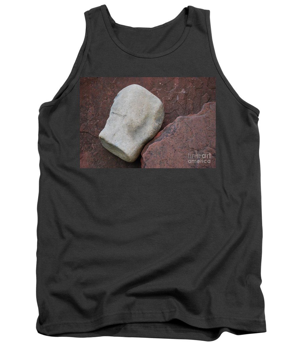 Color Tank Top featuring the photograph White Rock On Red Rock Number 1 by Heather Kirk