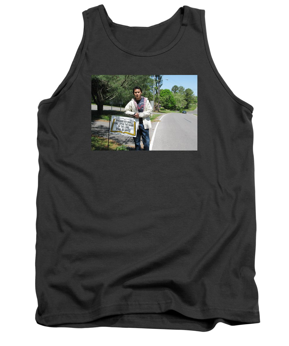 Scripture Tank Top featuring the photograph Whosoever Shall Call by Zao