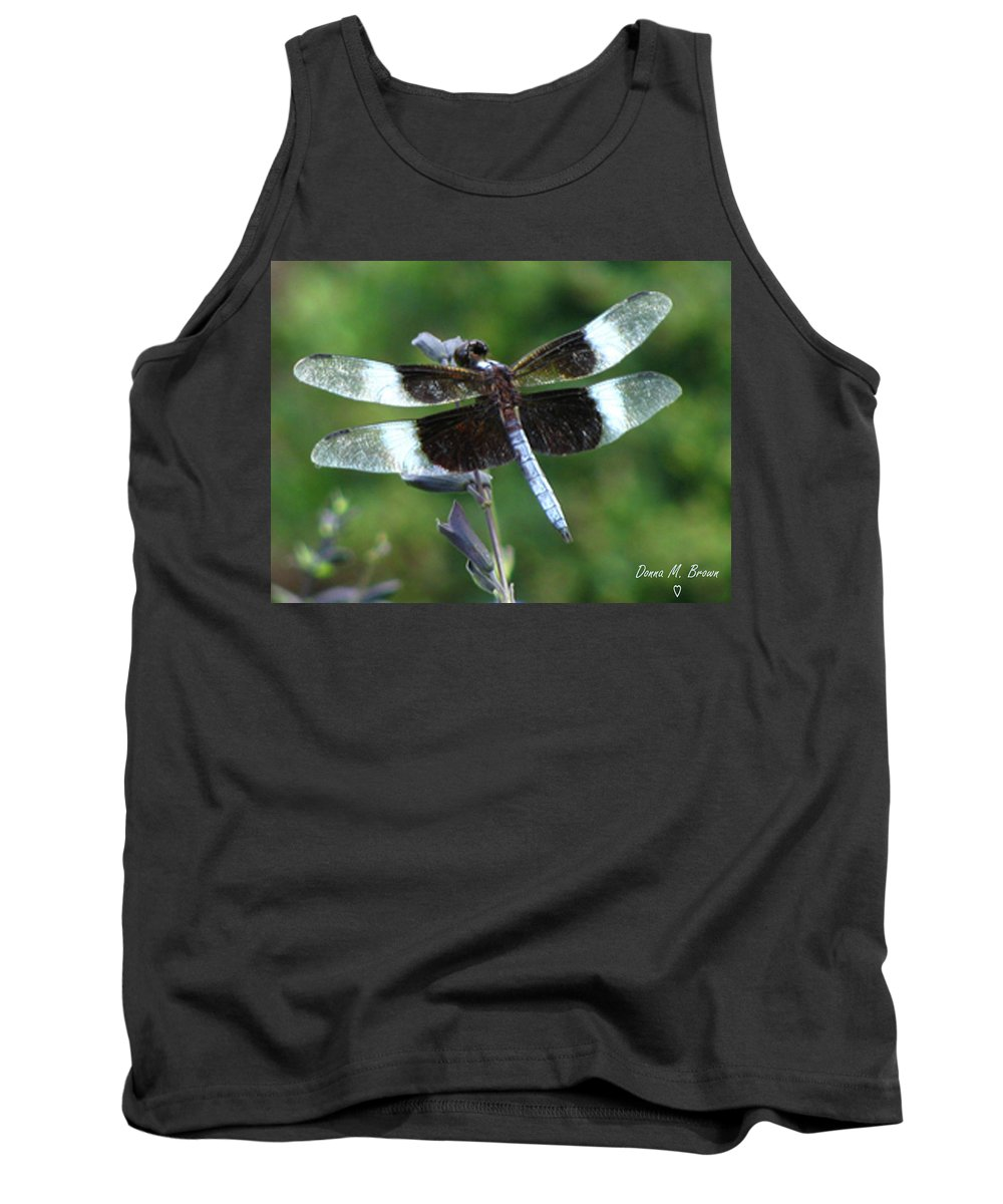 Insect Tank Top featuring the photograph Widow Skimmer Dragonfly by Donna Brown