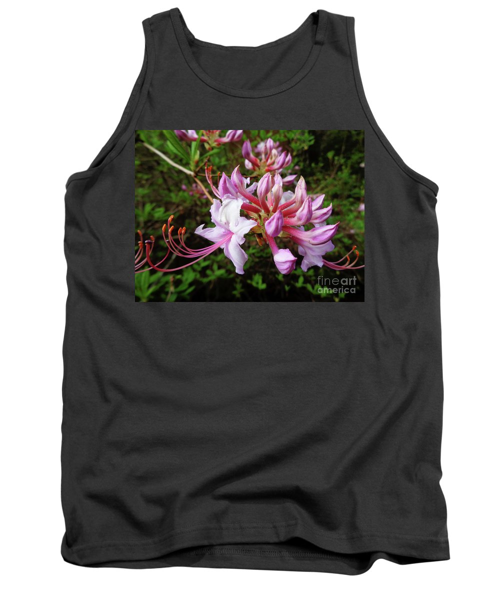 Pink Tank Top featuring the photograph Wild And Native Pink Azalea by Maili Page