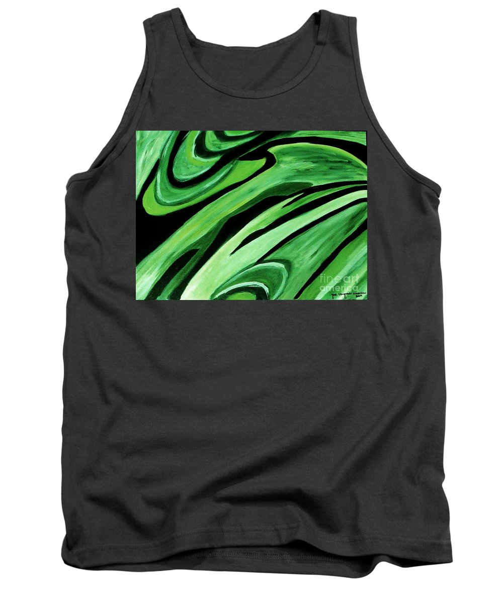 Painting Tank Top featuring the painting Wild Green by Yael VanGruber