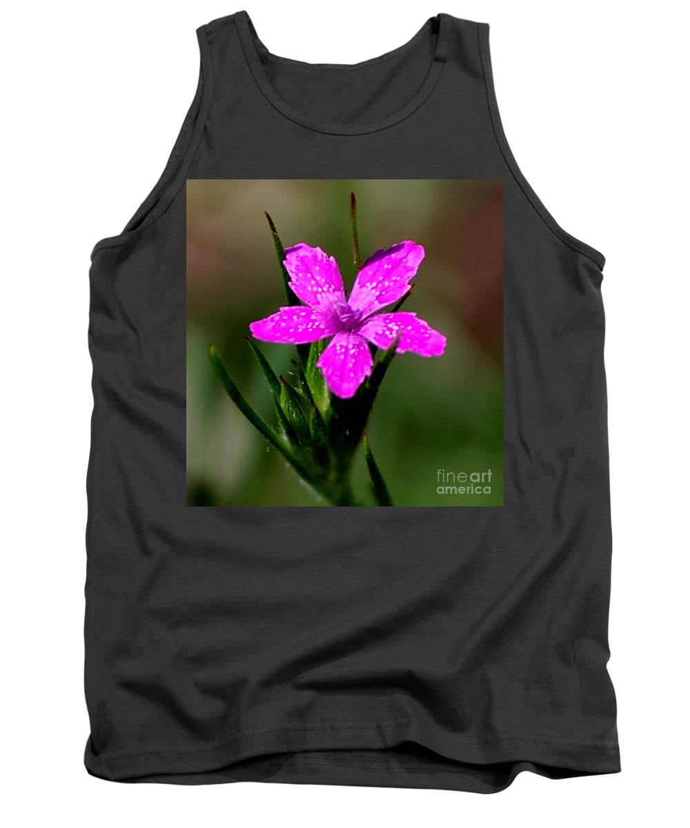 Digital Photo Tank Top featuring the photograph Wild Pink by David Lane