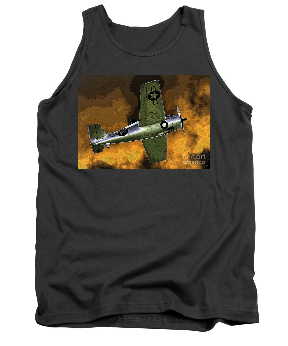 Wildcat Tank Top featuring the painting Wildcat by David Lee Thompson