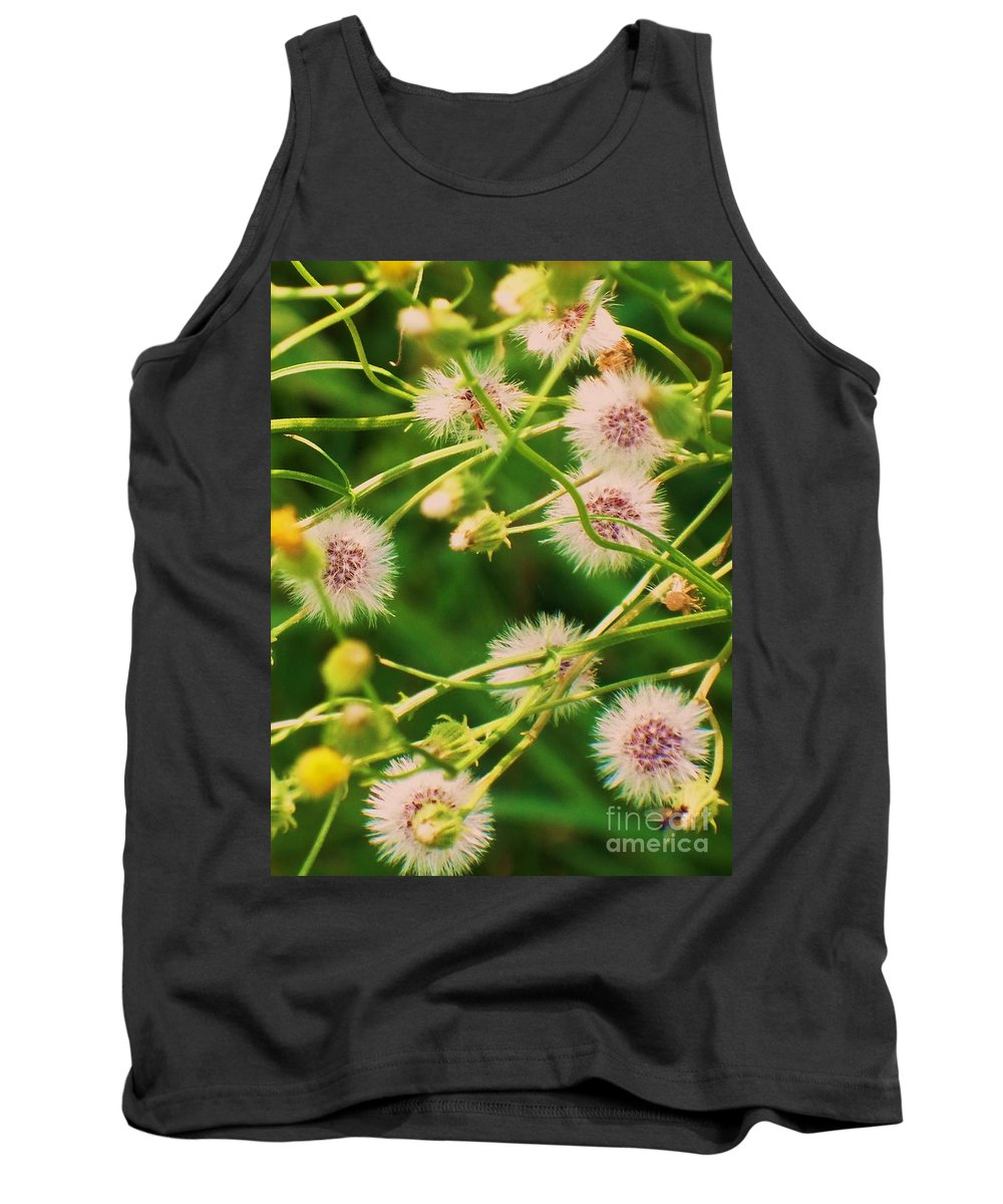 Flowers Tank Top featuring the painting Wildflower by Eric Schiabor