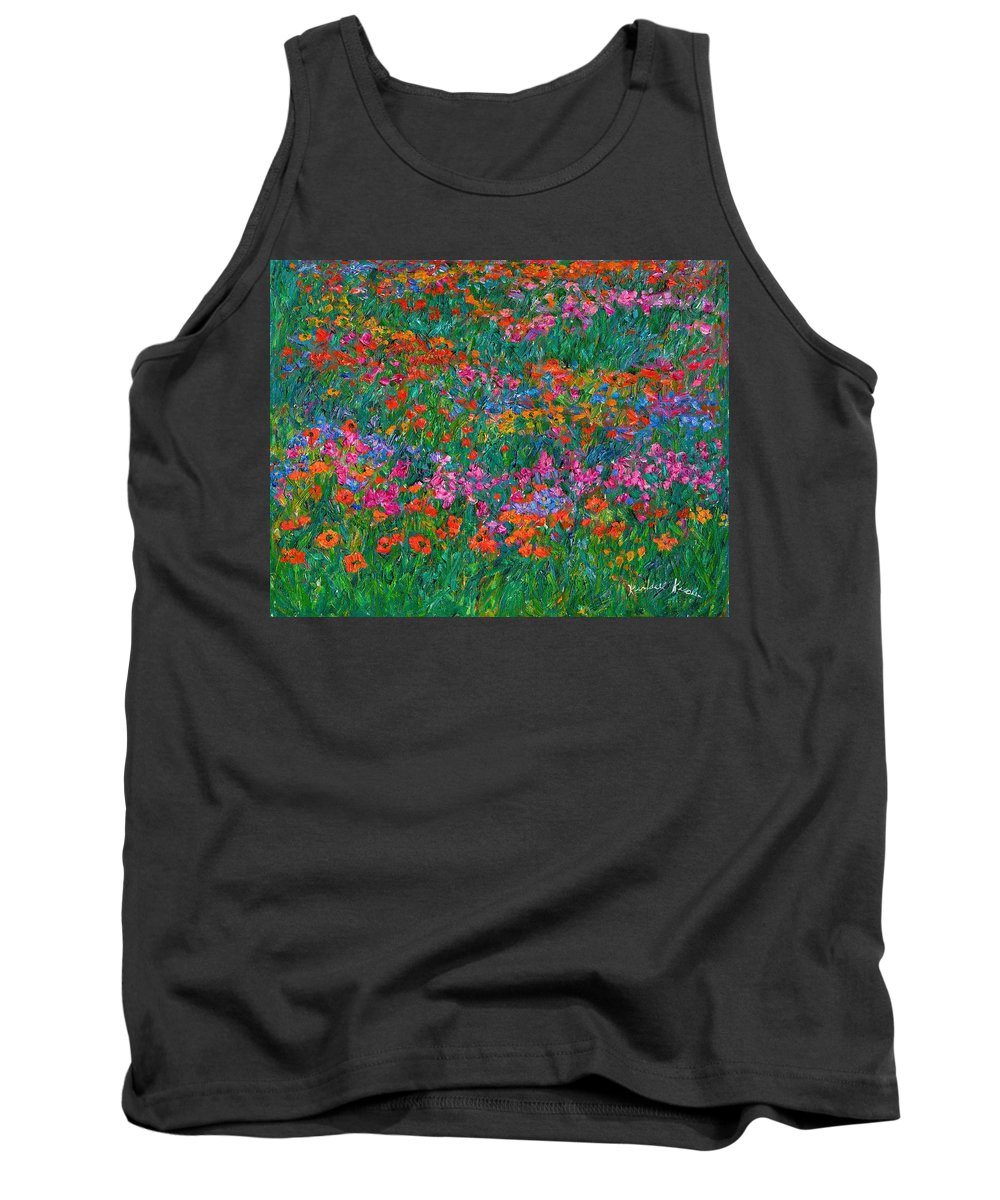 Wildflowers Tank Top featuring the painting Wildflower Magic by Kendall Kessler