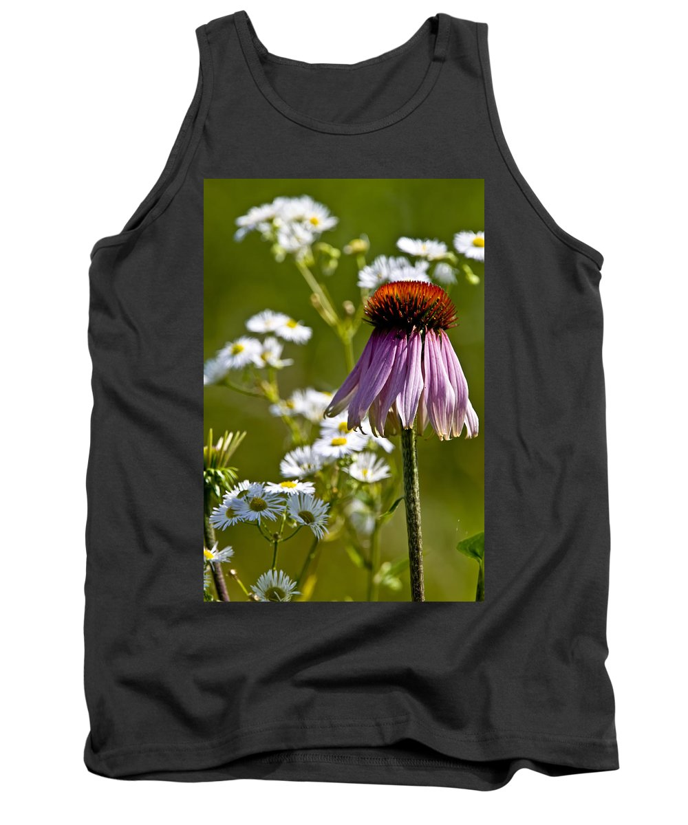 Echinacea Tank Top featuring the photograph Wildflowers by Michael Cummings