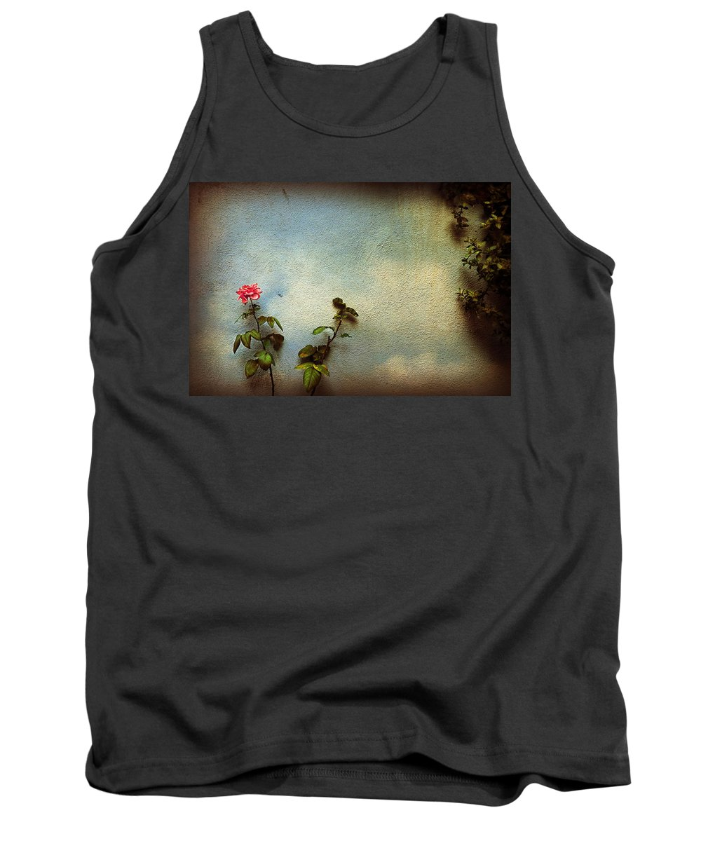 Rose Tank Top featuring the photograph Wilting Rose by Silvia Ganora