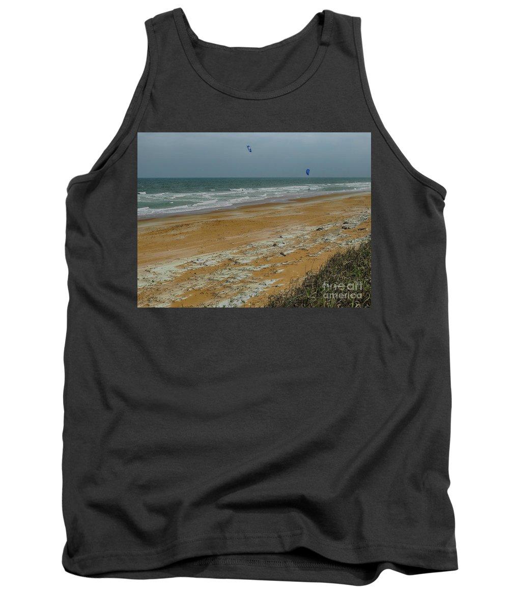 Ocean Tank Top featuring the photograph Wind Surfing In Flagler by Deborah Benoit