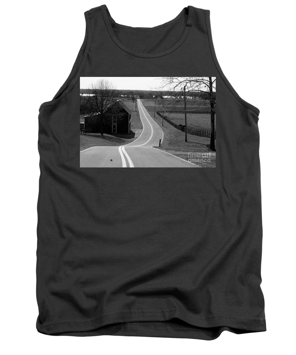 Road Tank Top featuring the photograph Winding Down by Beth Phifer