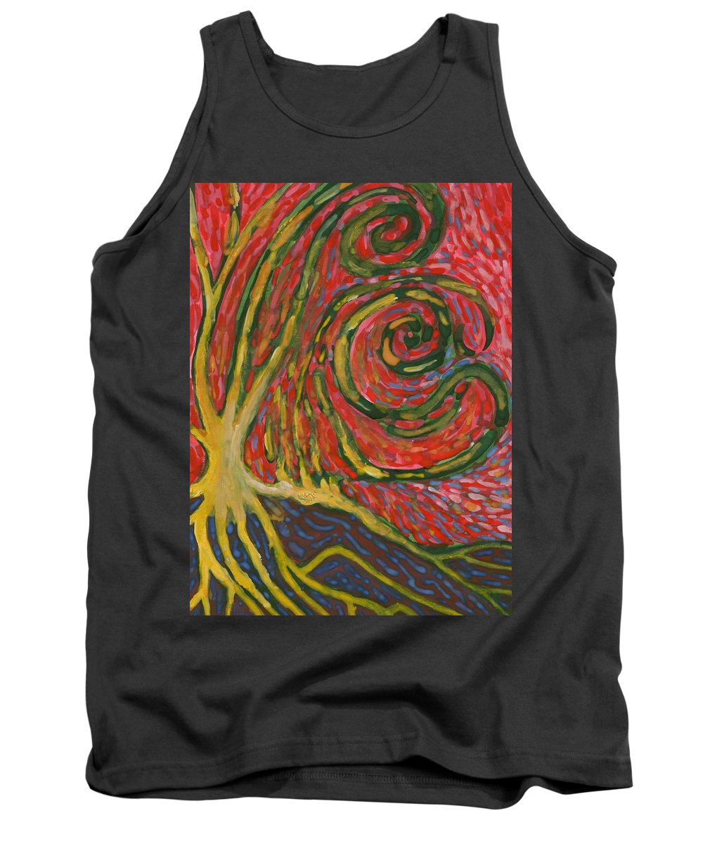Colour Tank Top featuring the painting Winding IIi by Wojtek Kowalski