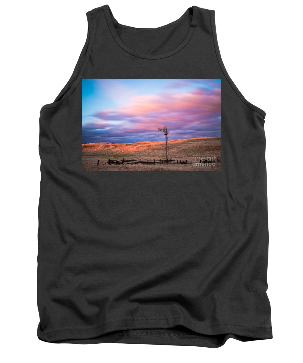 Windmill Tank Top featuring the photograph Windmill Le by Anthony Bonafede