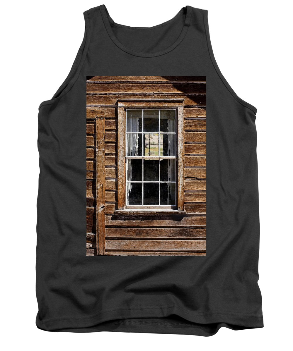 Wood Texture Tank Top featuring the photograph Window In A Window by Kelley King