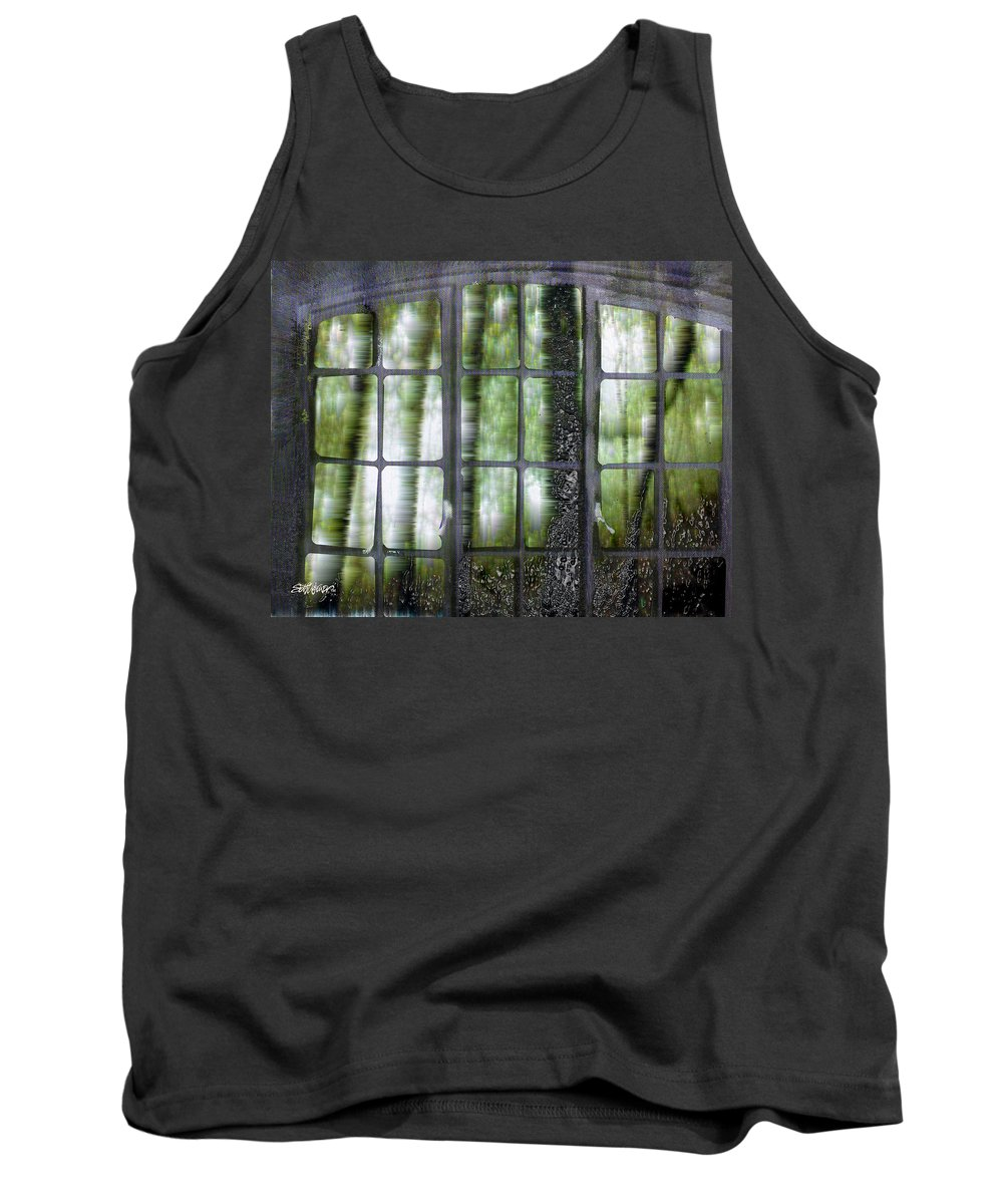 Window On The Woods Tank Top featuring the digital art Window On The Woods by Seth Weaver