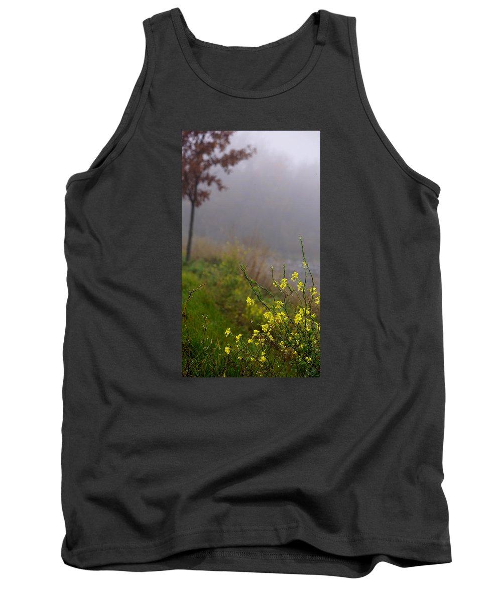 Fog Tank Top featuring the photograph Winter Cress by Brooke Bowdren