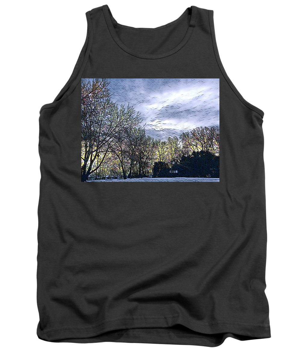 Winter Day Tank Top featuring the digital art Winter Day 3 by Brenda Plyer