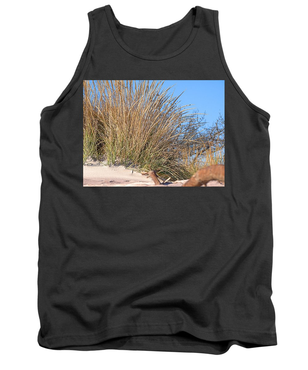 Winter Beach Tank Top featuring the photograph Winter Dunes by Newwwman