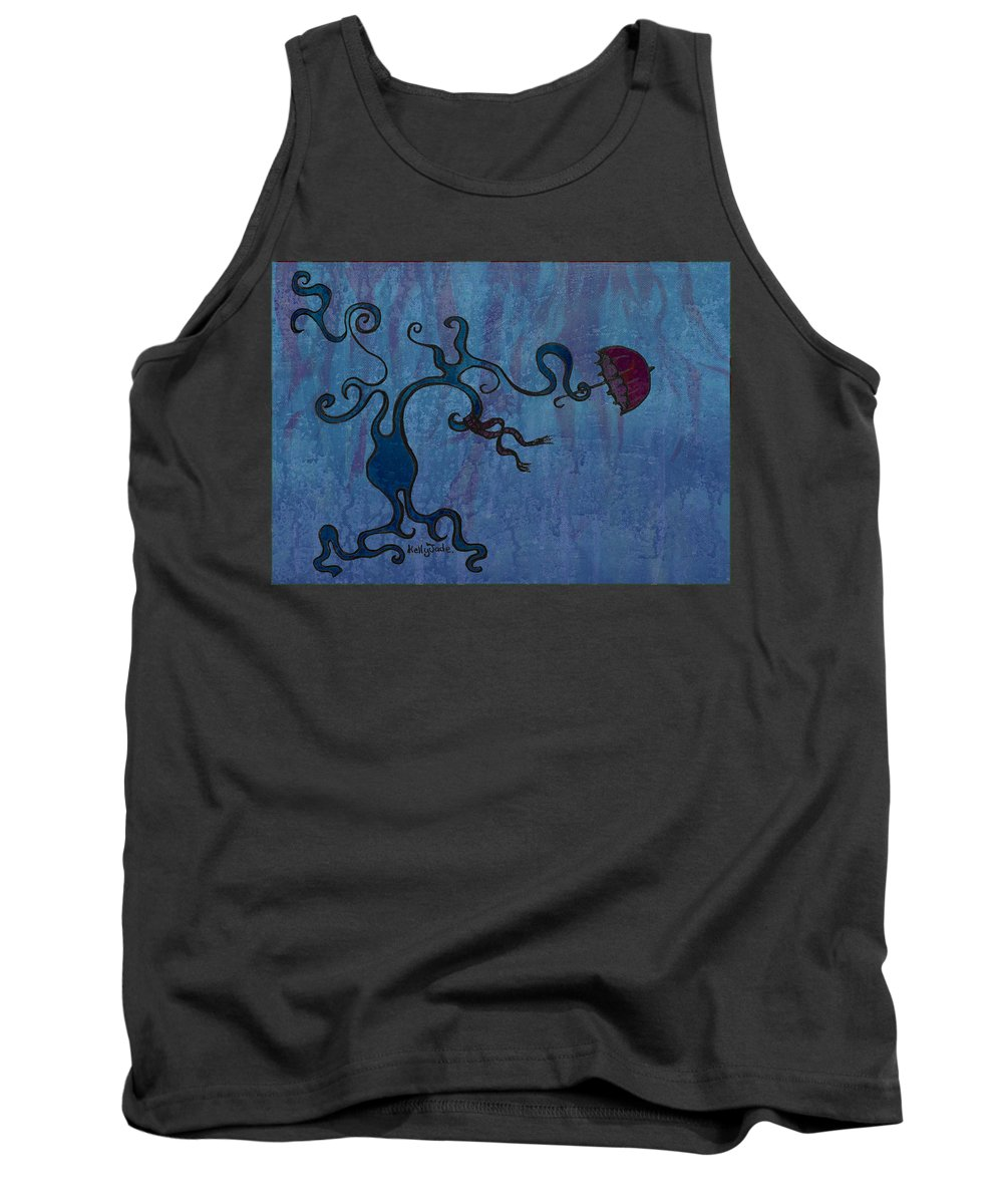 Tree Tank Top featuring the digital art Winter by Kelly Jade King