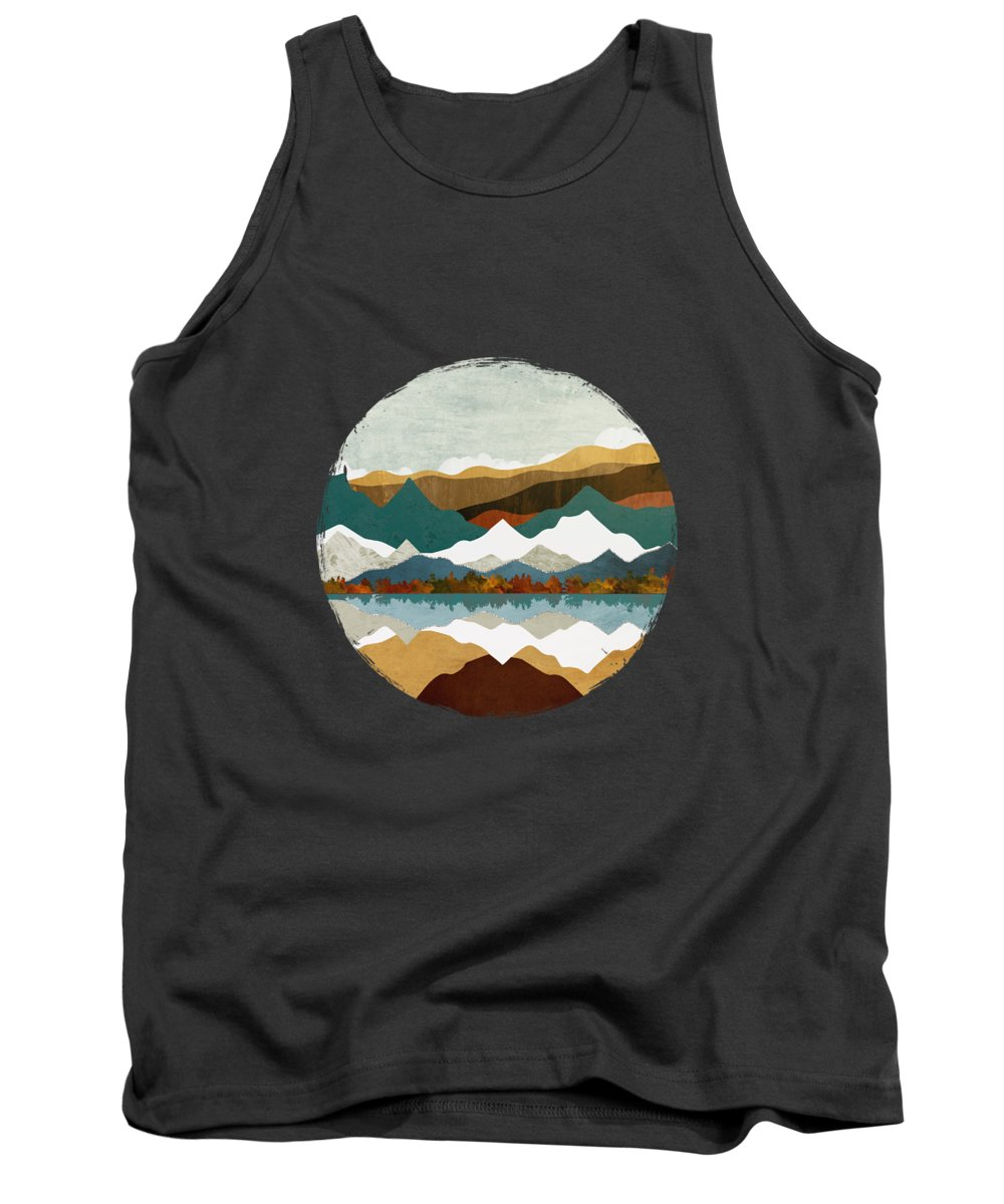 Winter Tank Top featuring the digital art Winter Lake by Spacefrog Designs