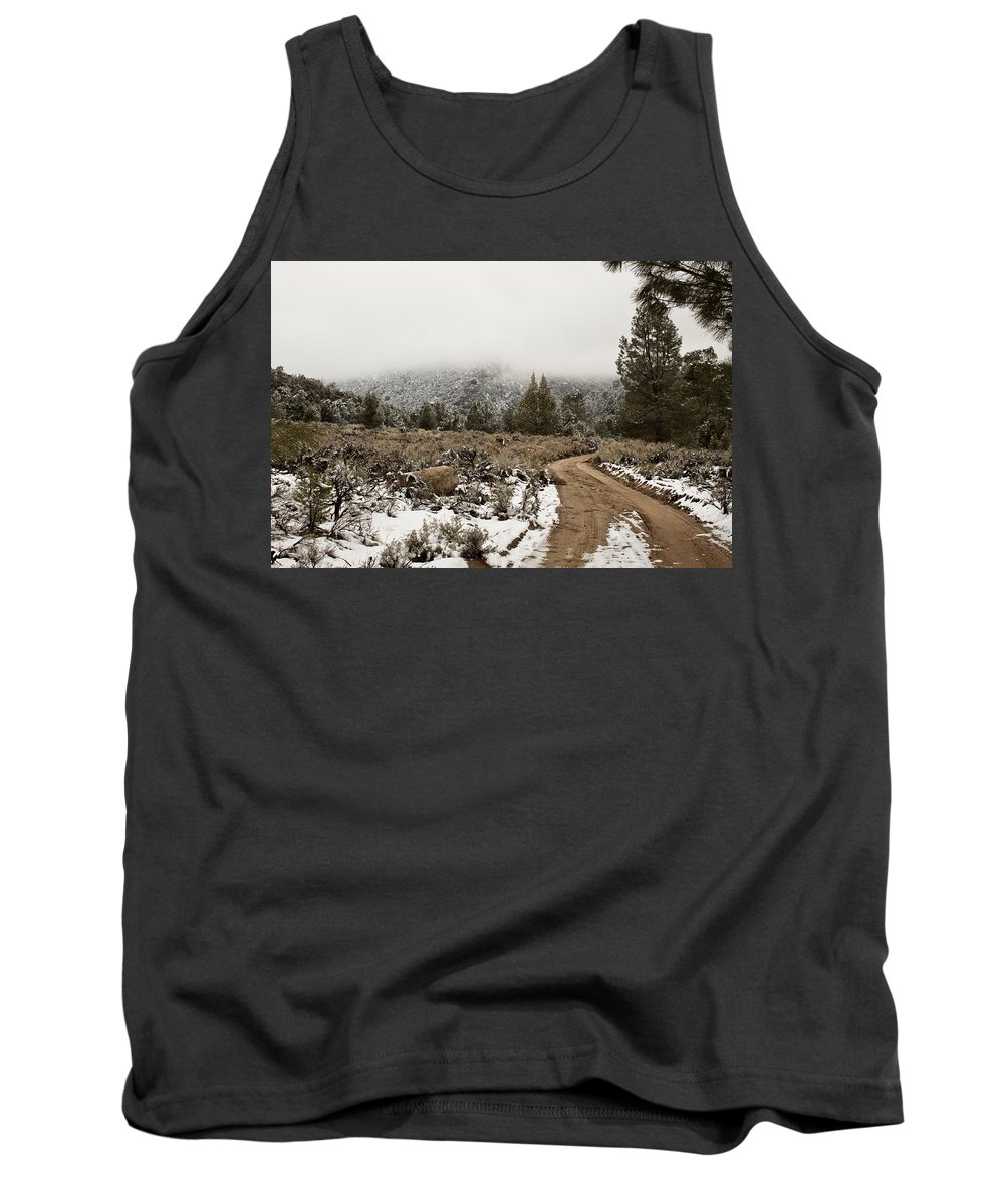 California Tank Top featuring the photograph Winter Mist by Jessica Fong