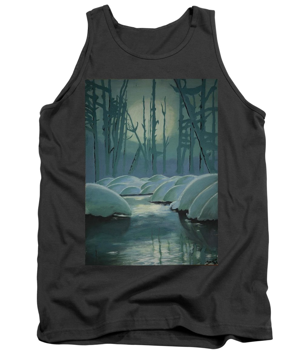 River Tank Top featuring the painting Winter Quiet by Jacqueline Athmann