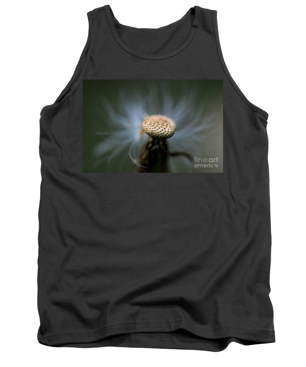 Macro Tank Top featuring the photograph Wispy by Lois Bryan