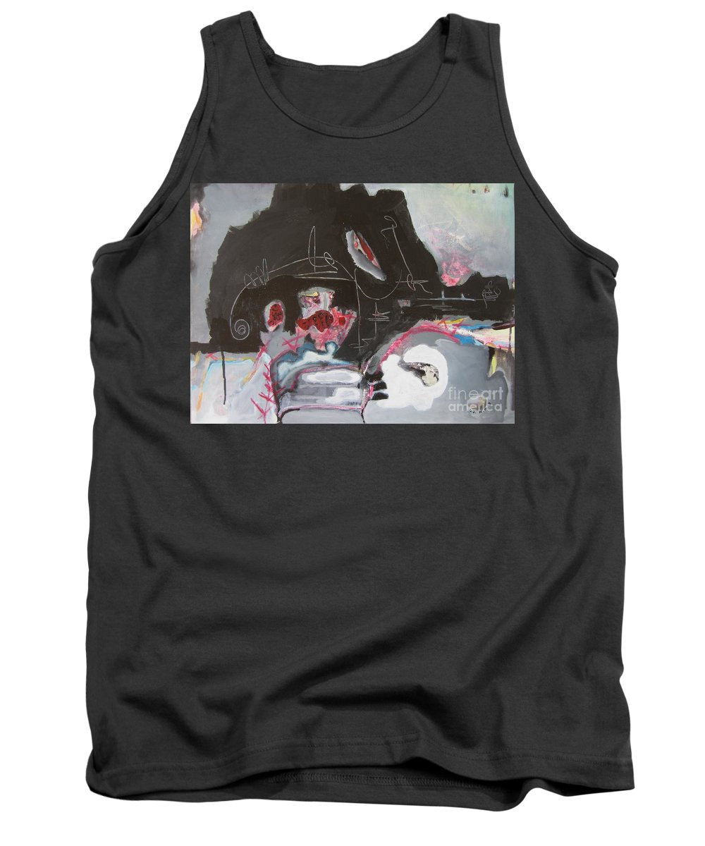 Abstract Paintings Tank Top featuring the painting With Little Escape From Life by Seon-Jeong Kim