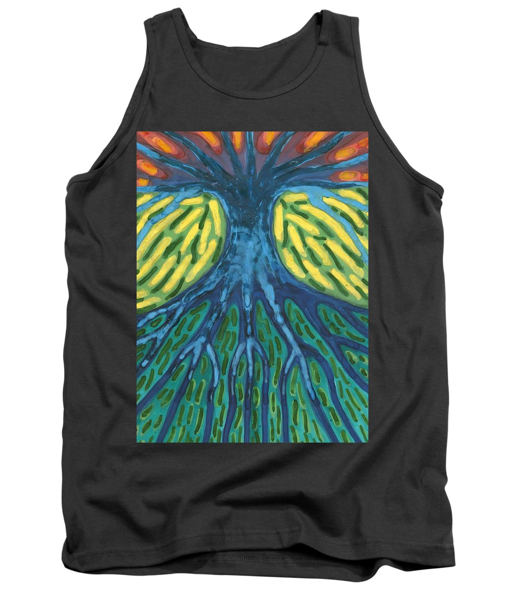 Colour Tank Top featuring the painting Without Light by Wojtek Kowalski
