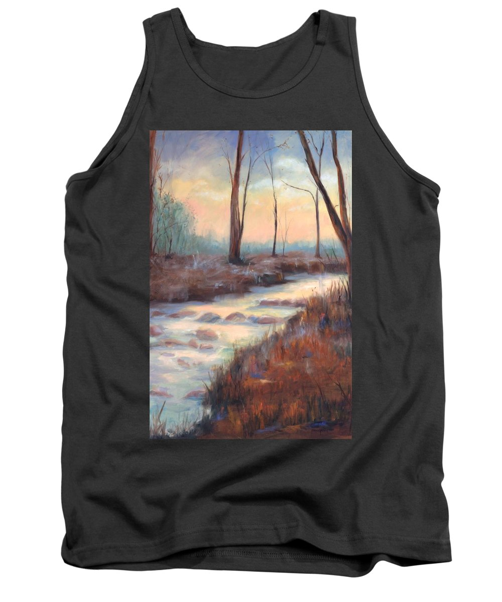 Creeks Tank Top featuring the painting Wolf Creek by Ginger Concepcion
