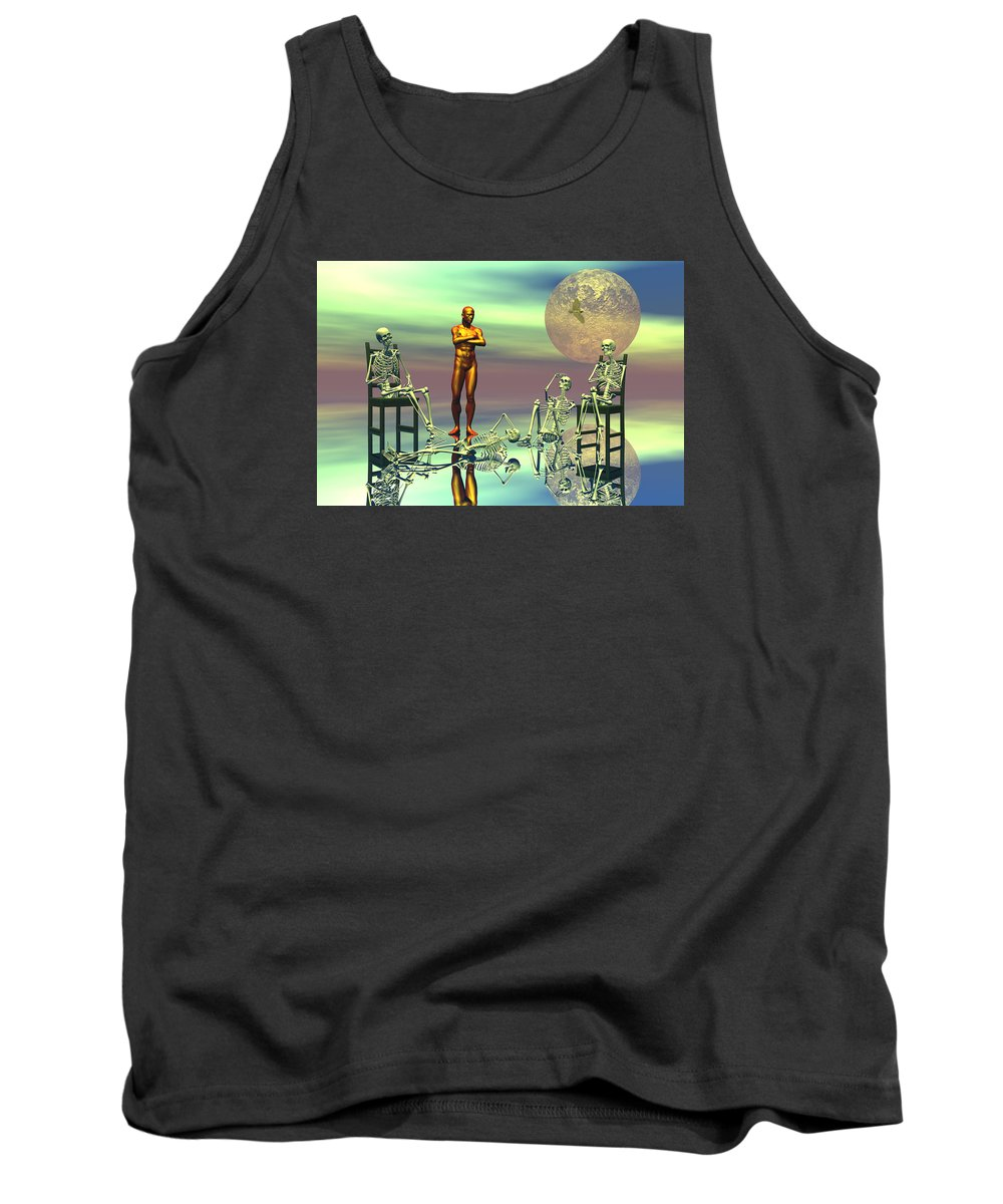 Bryce Tank Top featuring the digital art Women Waiting For The Perfect Man by Claude McCoy
