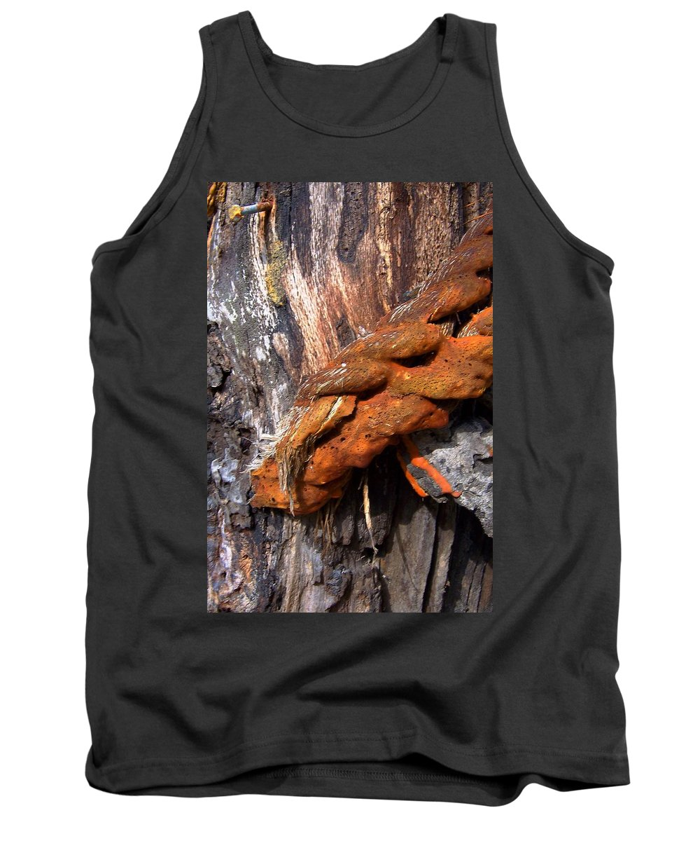 Wood Tank Top featuring the photograph Wood And Iron Braid Image by Laurie Paci