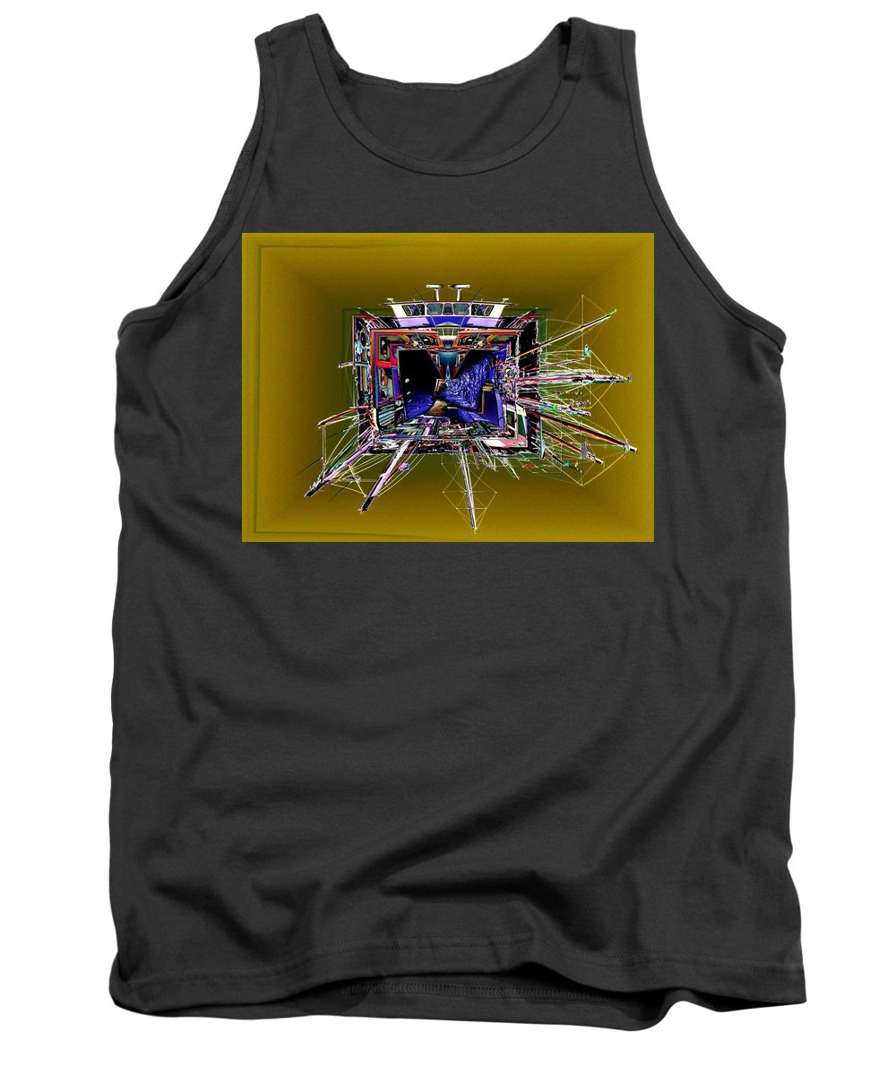 Seattle Tank Top featuring the photograph Wooden Boat Vortex by Tim Allen