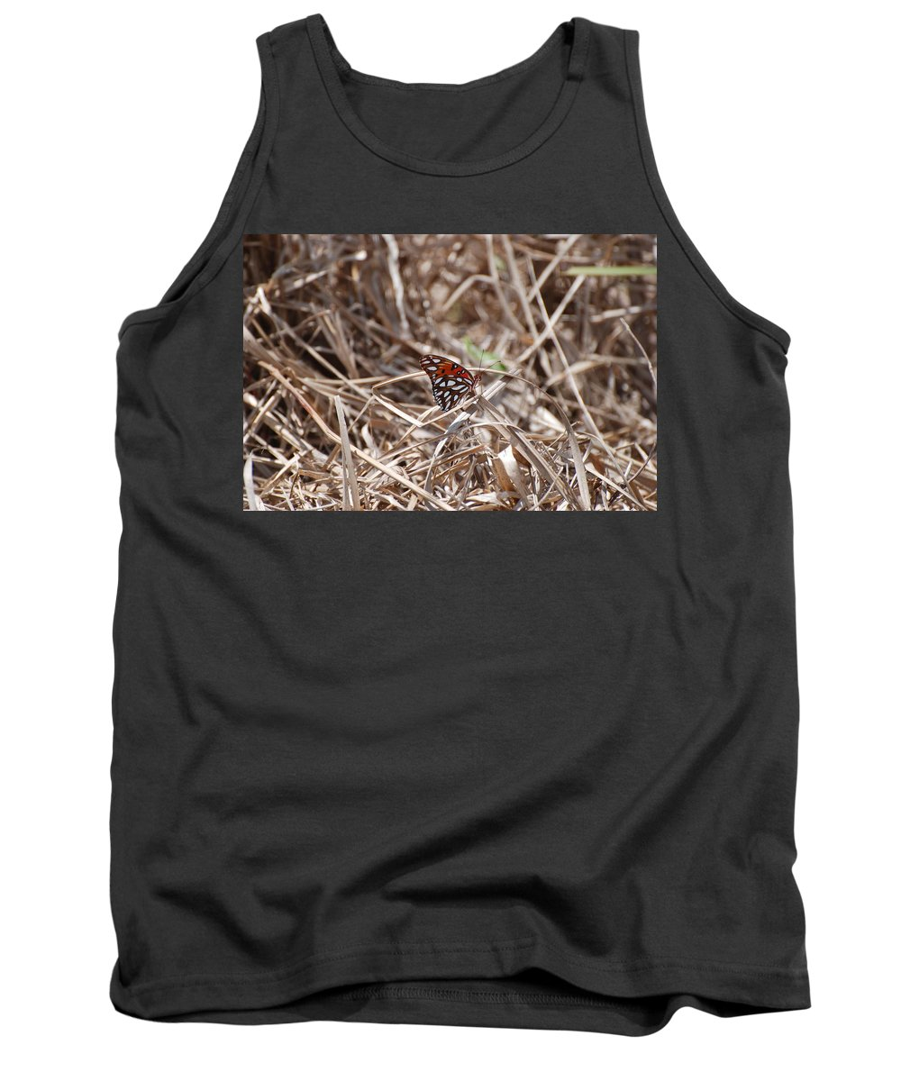 Butterfly Tank Top featuring the photograph Wooden Butterfly by Rob Hans