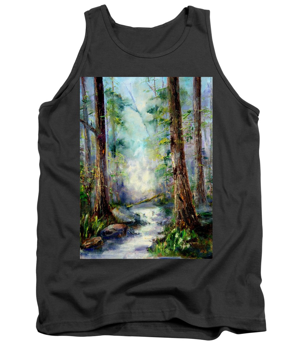 Australia Tank Top featuring the painting Woodland Creek 1.0 by Giro Tavitian