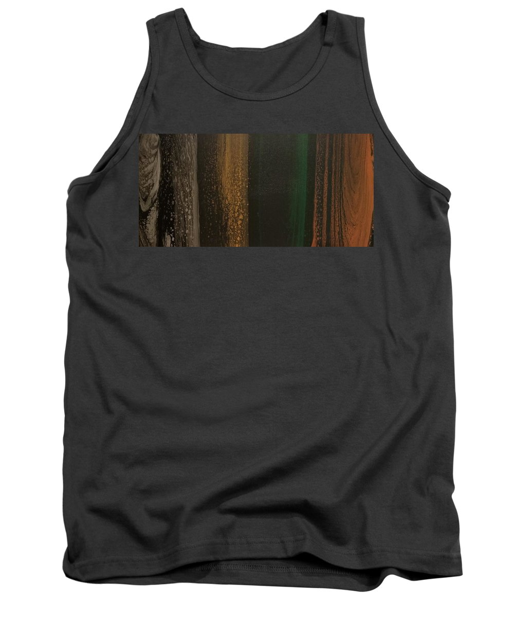 Wood Tank Top featuring the painting Woodsy by Karin Fletcher