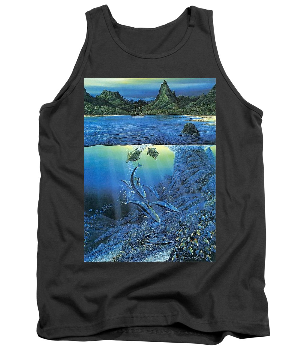 Water Tank Top featuring the digital art Worlds Away Ted Nasmith by Eloisa Mannion