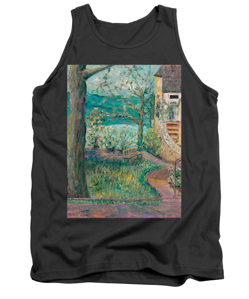 Big Cedar Lodge Tank Top featuring the painting Worman House At Big Cedar Lodge by Nadine Rippelmeyer