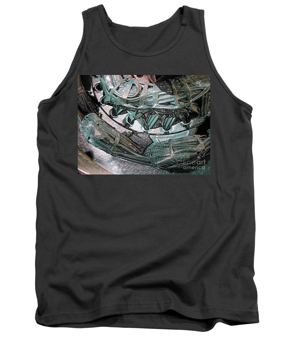 Digital Art Tank Top featuring the digital art Wound Tight by Ron Bissett