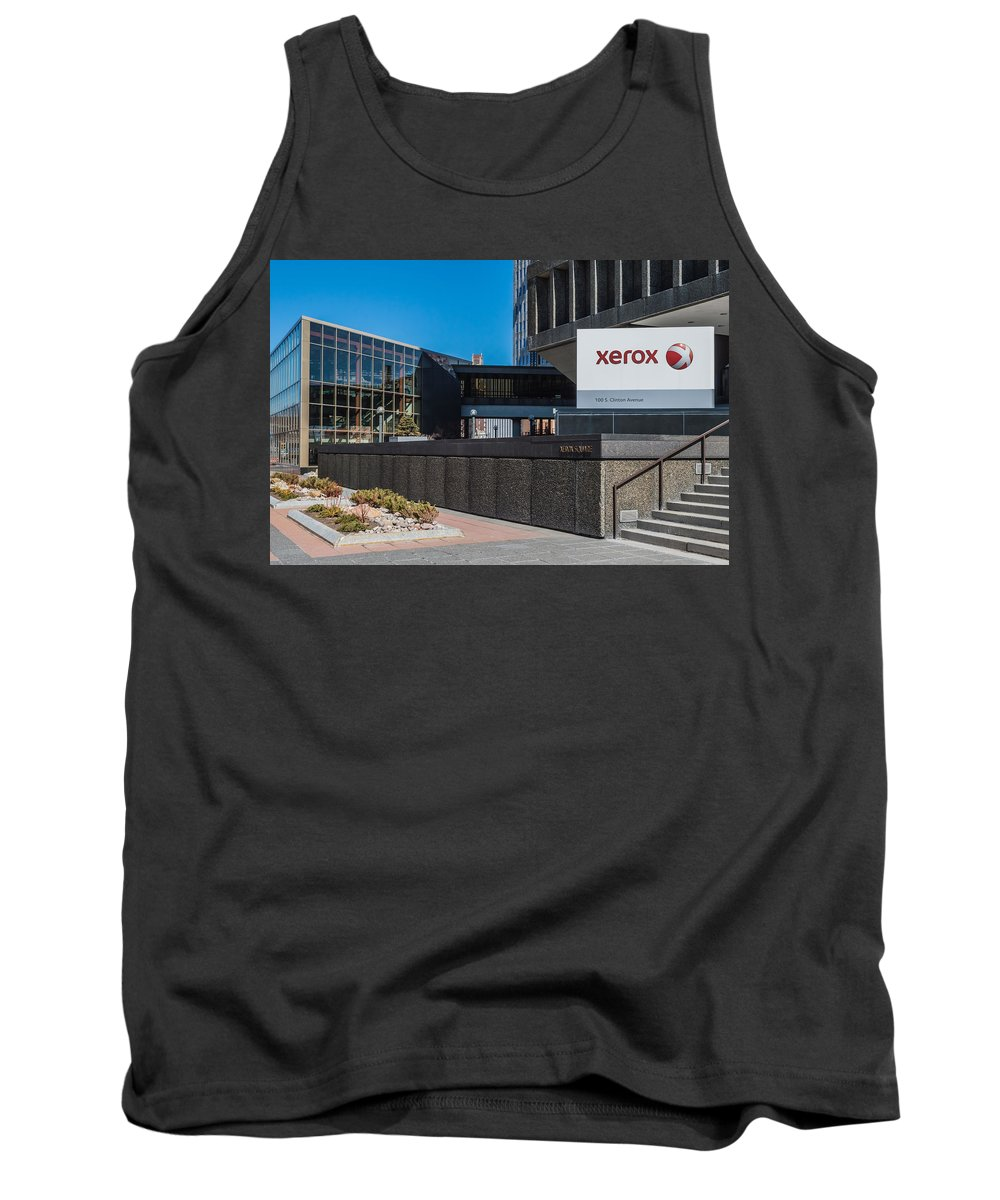 Architecture Tank Top featuring the photograph Xerox Tower Entrance by Ray Sheley