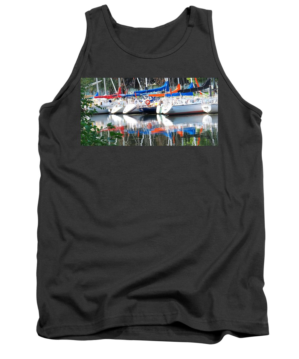 Boat Tank Top featuring the photograph Yachts At Rest by Ian MacDonald