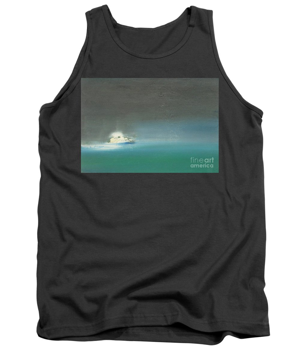 Sea Tank Top featuring the painting Yacht On The High Seas by Vesna Antic