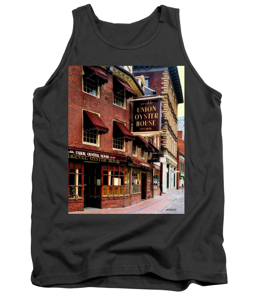 Ye Olde Union Oyster House Tank Top featuring the photograph Ye Olde Union Oyster House by Mountain Dreams