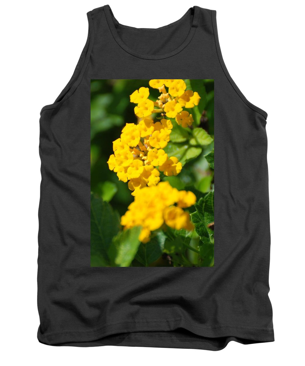 Flowers Tank Top featuring the photograph Yellow Blooms by Rob Hans