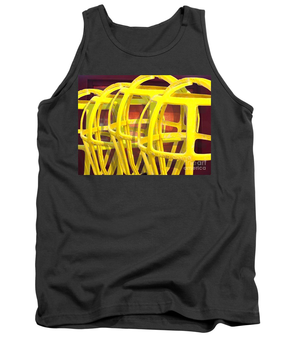Digital Art Tank Top featuring the digital art Yellow Guard by Ron Bissett