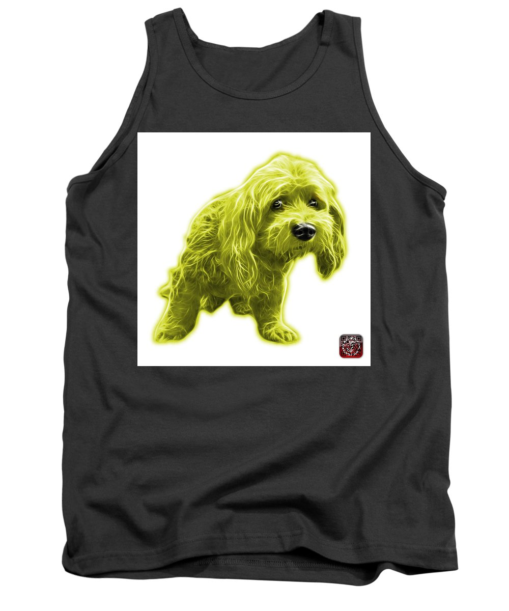 Lhasa Apso Tank Top featuring the painting Yellow Lhasa Apso Pop Art - 5331 - Wb by James Ahn