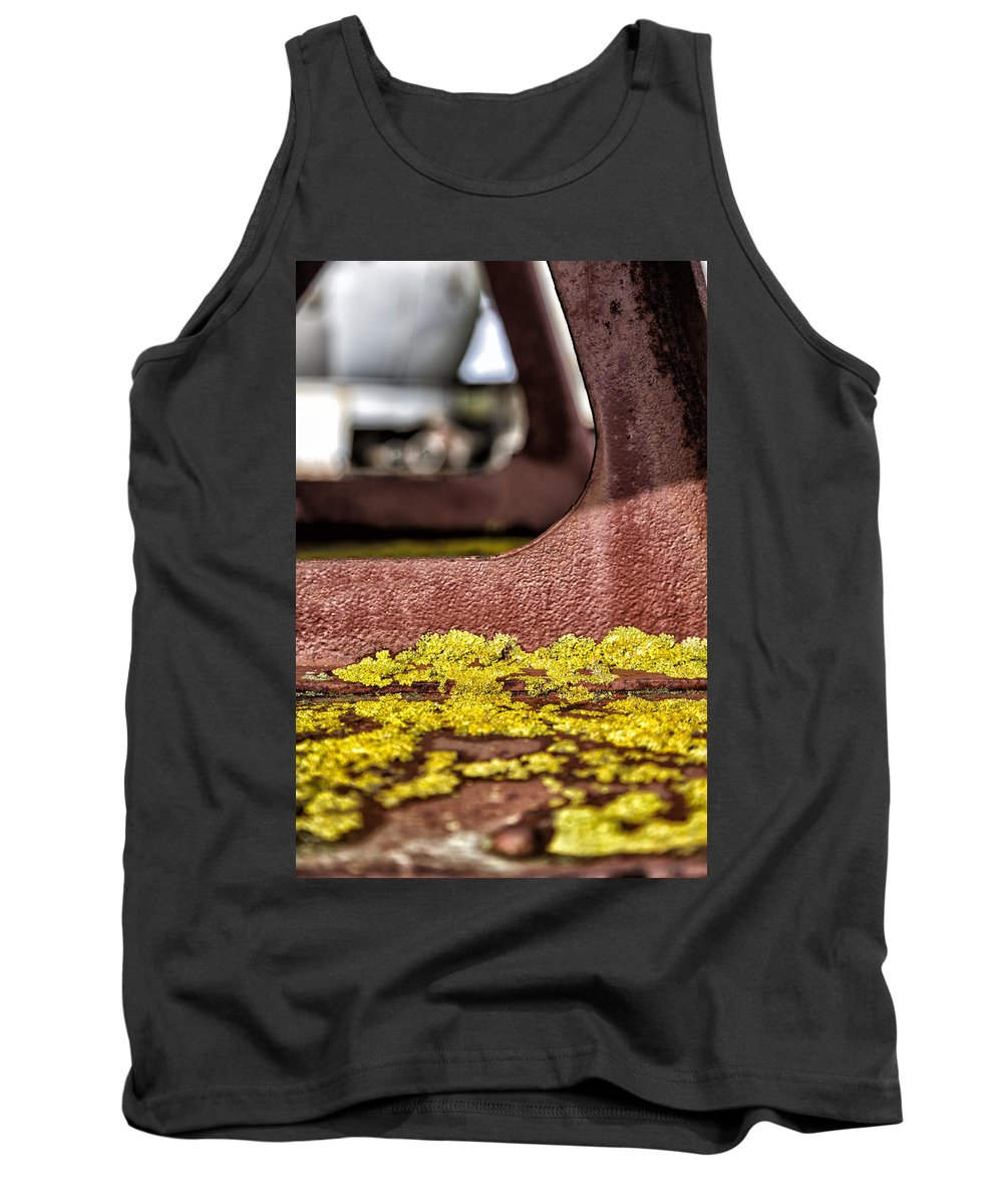 Abstract Tank Top featuring the photograph Yellow Lichen by Russ Dixon