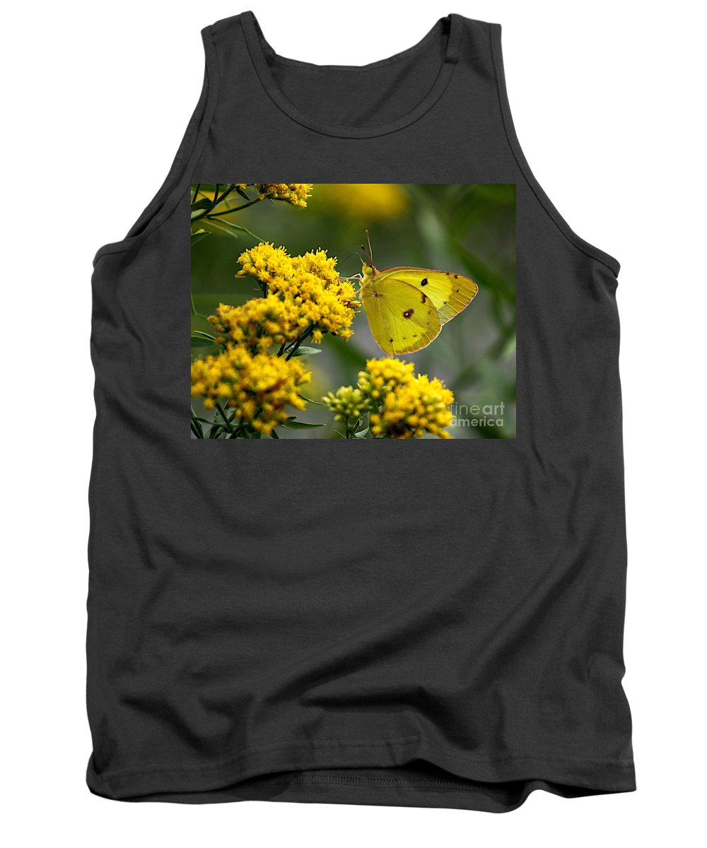 Related Tags: Tank Top featuring the photograph Yellow On Yellow by Robert Pearson