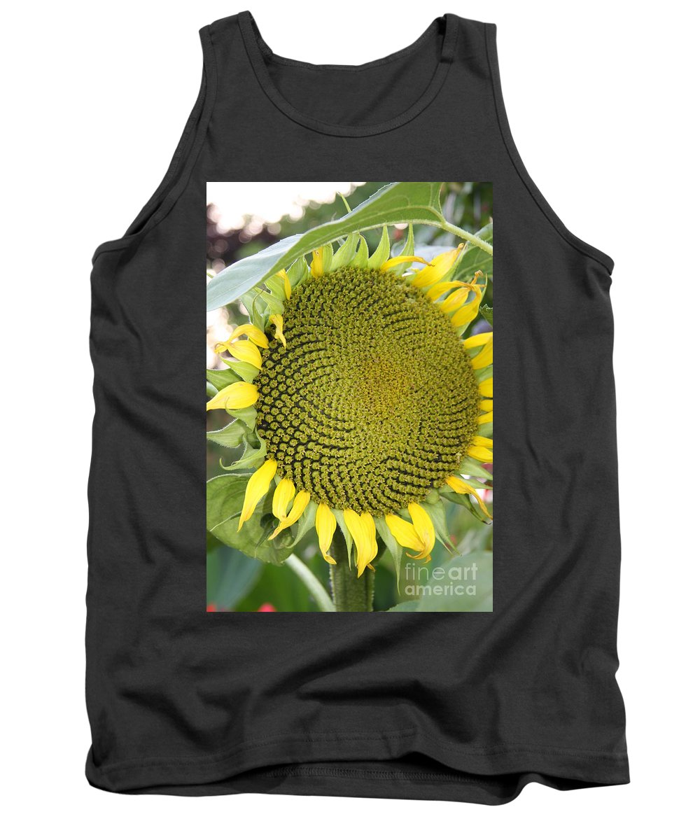 Flower Tank Top featuring the photograph Yellow Sunflower by Christiane Schulze Art And Photography
