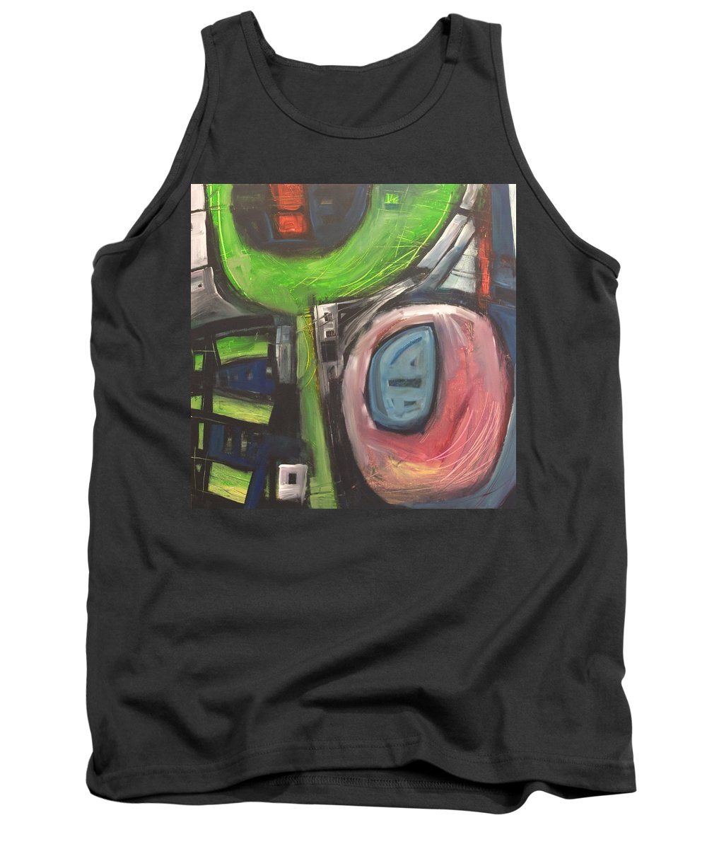 Abstract Tank Top featuring the painting YO by Tim Nyberg
