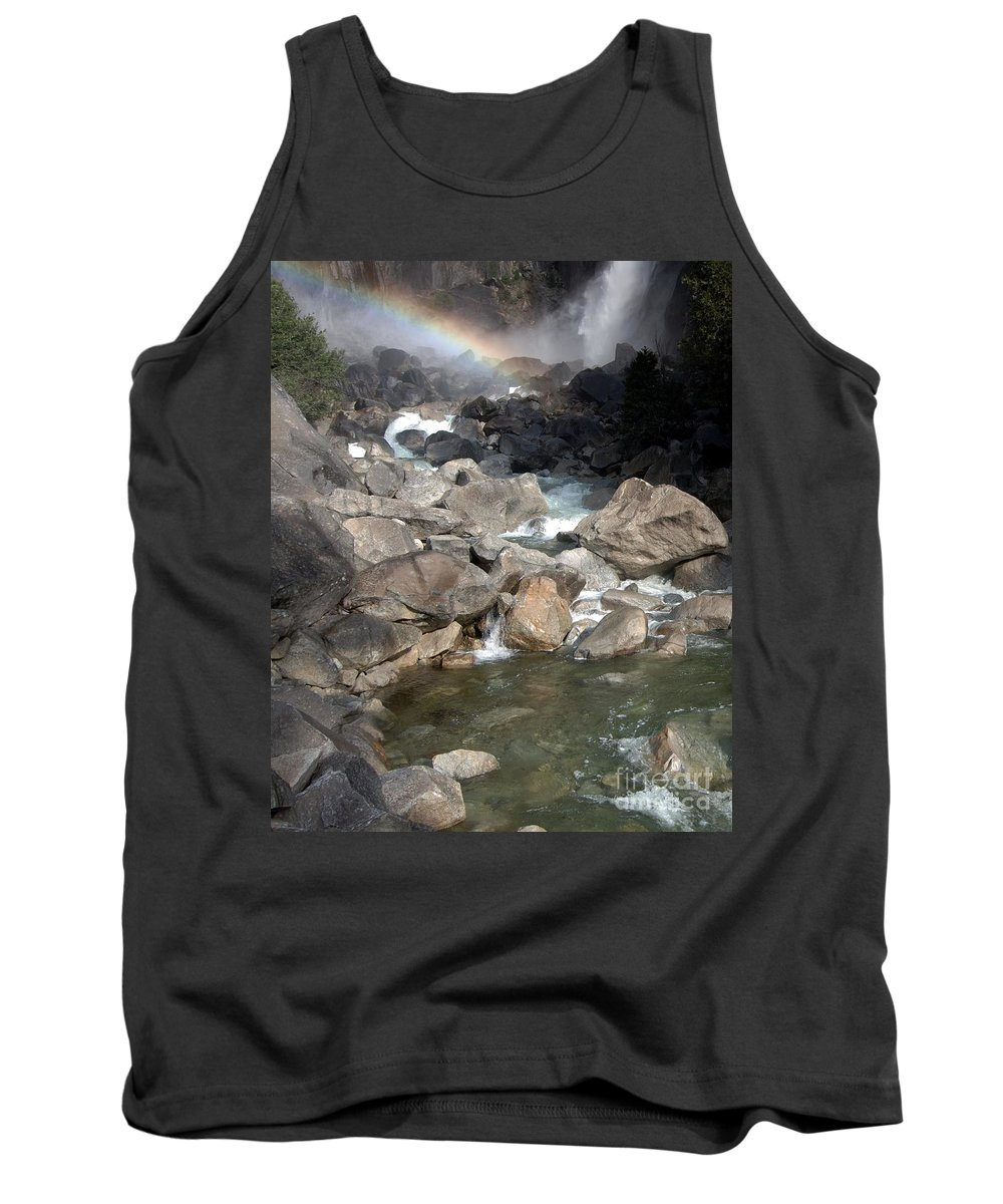 California Parks Tank Top featuring the photograph Yosemite Falls Rainbow by Norman Andrus